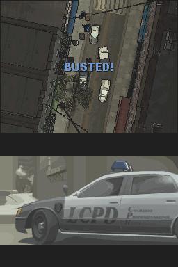 Скриншот из GTA Chinatown Wars. Арестовали...