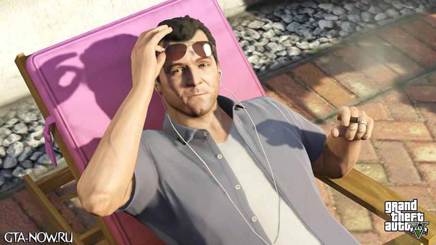 Майкл отдыхает от дел GTA 5