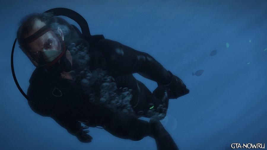 Тревор под водой GTA V