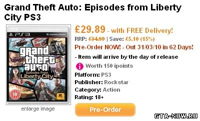 Episodes from Liberty City выйдет на Sony Playstation 3?