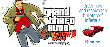 Grand Theft Auto: Chinatown Wars - Order now and receive the bulletproof Infernus