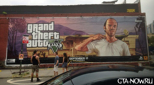реклама GTA V в Бруклине