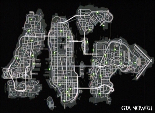 Карта машин GTA 4