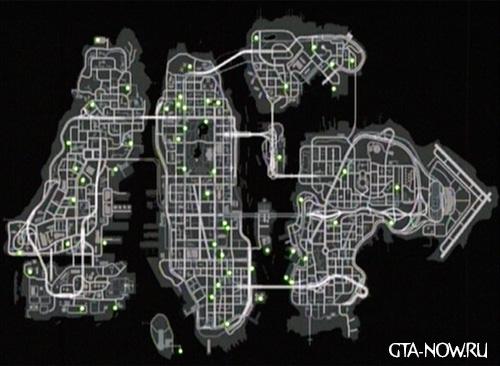 Карта аптечек GTA 4
